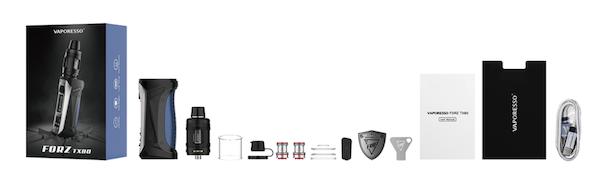 Contenu du coffret du kit Forz TX80 Vaporesso